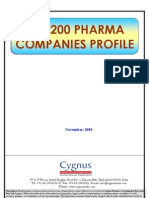 TOC of Top 200 Pharma Companies Profile-Nov 08