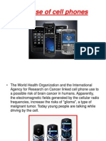 ICPNA B12 - Use of Cell Phones