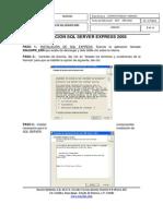 Manual Instalacion SQL Express 2005
