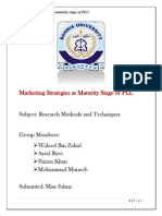 Marketing Strategies at Maturity Stage of PLC(1)