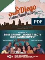 14th San Diego Asian Film Festival Program Booklet