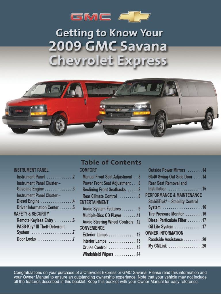 gmc savana getknow compact disc radio rh es scribd com Used 2009 GMC Savana Values Used 2009 GMC Savana 2500