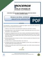 Fundatec 2012 Procergs Tecnico de Nivel Superior Administracao Recursos Humanos Prova