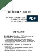 Psihologia Durerii Psihooncologie