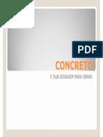 1 - Dosagem de Concreto