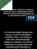 Husserl y El Metodo Fenomenologico