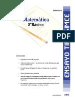 Ensayo2 Simce Matematica 8basico 2013