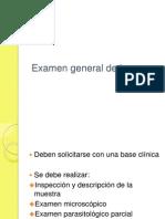 Examen General de Heces