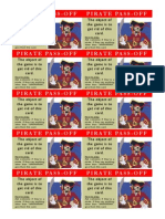 Pirate Pass Off for Avery Business Cards