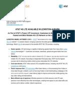 Lewiston Auburn LTE Launch Release 100913
