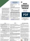 October newsletter for West Harbour Alliance church