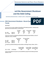 Attitudes Toward the Government Shutdown and the Debt Ceiling, October 2013