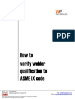 How to Verify Welder Qualification to ASME IX