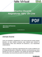Instructivo Docente 100 Online