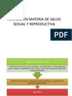 Avances en Materia de Salud Sexual y Reproductiva