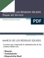MANEJO DE LOS RESIDUOS SÓLIDOS
