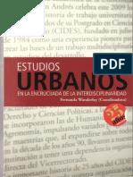 Estudios Urbanos en La Encrucijada de La Interdisciplinariedad