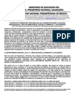 Plan de Escuela de Formación Cristiana 2006-2011