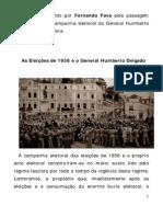 A campanha eleitoral das eleições de 1958 para o blog CERACH