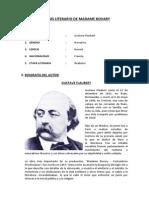 ANÁLISIS LITERARIO DE MADAME BOVARY