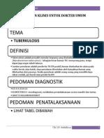 Pedoman Klinis Untuk Dokter Umum Tbc