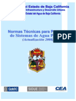 Normas Técnicas para Proyecto de Sistemas de Agua Potable
