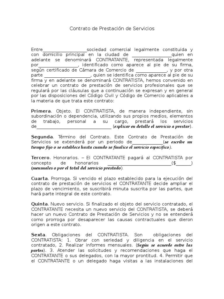 Encantador Plantilla De Contrato De Contratista Embellecimiento ...