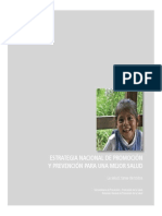 ESTRATEGIA NACIONAL DE PROMOCIÓN PREVENCIÓN PARA UNA MEJOR SALUD