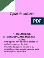 Curs 7 - Tipuri de Ocluzie