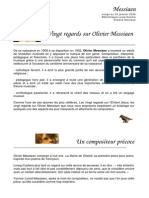 Vingt Regards Sur Olivier Messiaen