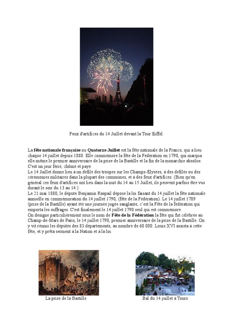 Exceptionnel Fête Nationale Du 14 Juillet