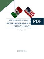 02-10-13 Informe LI Reunión Interparlamentaria México - EU