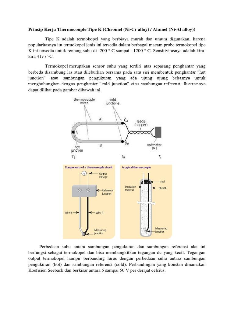 Prinsip kerja thermocouple tipe k ccuart Images