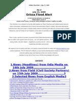 Orissa Flood Alert Jul 15 09