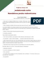 MN.146  Nandakovada sutta - Nandakova pouka redovnicama