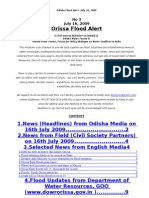 Orissa Flood Alert Jul 16 09