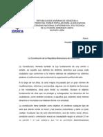 La Constitucion de La Republica Bolivariana de Venezuela