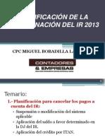 PlanificaciOndelIR2013