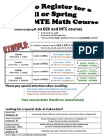 how to register for math course sequence