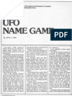THE UFO NAME GAME by John A. Keel