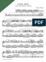 Casta Diva Piano Score