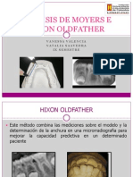 Analisis de Moyers e Hixon Oldfather 2