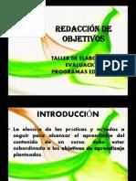 REDACCIÓN DE OBJETIVOS