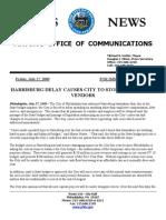 Philadelphia Budget Crisis Press Release