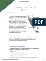 Epicondilitis (Codo de Tenis)