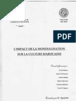 Culture & Civilisation - L'impact de la Mondialisation sur la Culture Marocaine