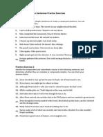 Compound Complex Sentences Practice Exercises