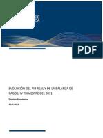 Evolución PIB Real y Sector Externo - IV Trimestre 2011