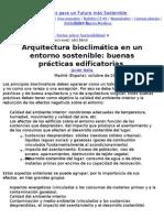 Arquitectura bioclimática en un entorno sostenible_ buenas prácticas edifica