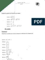 Mathématiques - Exercices